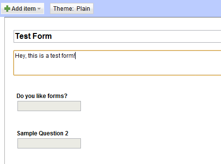 Create your Google Form