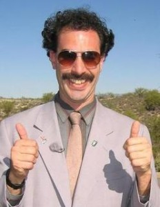 It's always a good time for a Borat pic.